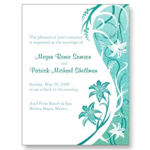 This tropical invitation from Kustom By Kris is perfect for any destination wedding. Personalize...
