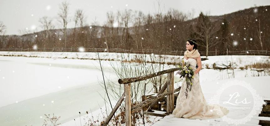 Bride in the snow