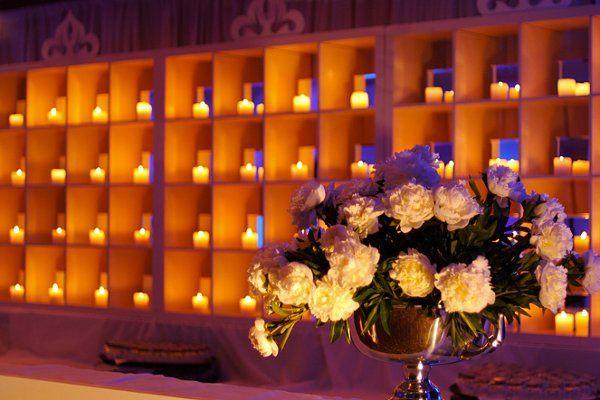 Candle backdrop