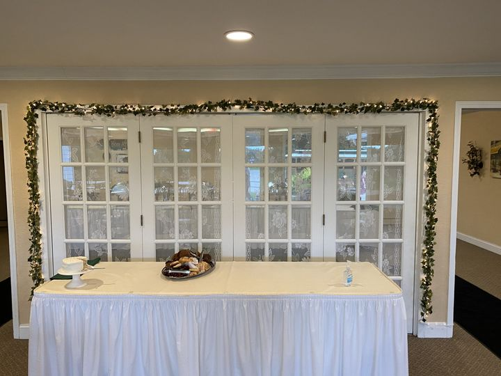 Cake Table and Buffet Room