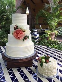 Four tiered cake