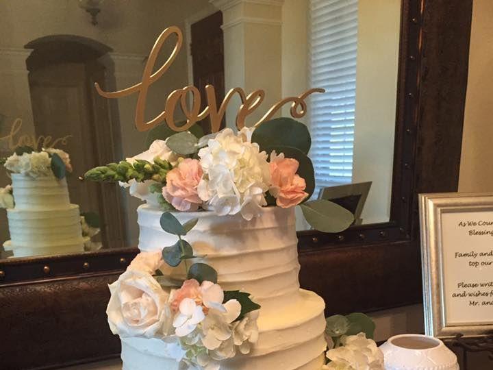 Tmx 1533854201 3f4847b2f8aa4693 1533854201 F6952ae3ff538453 1533854200812 10 21766848 18421245 McKinney, Texas wedding cake