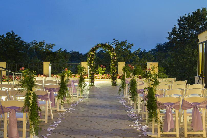 terrace wedding evening