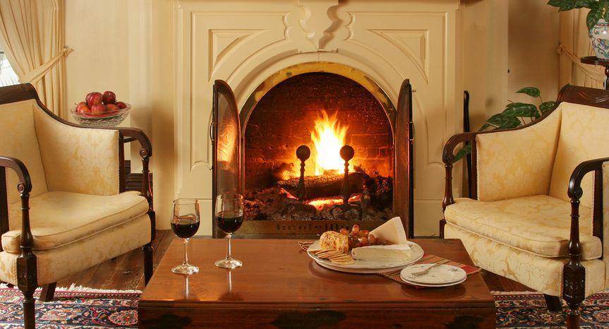 cozy fireplac