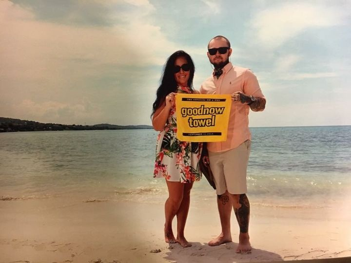 Happy honeymooners at Sandals South Coast