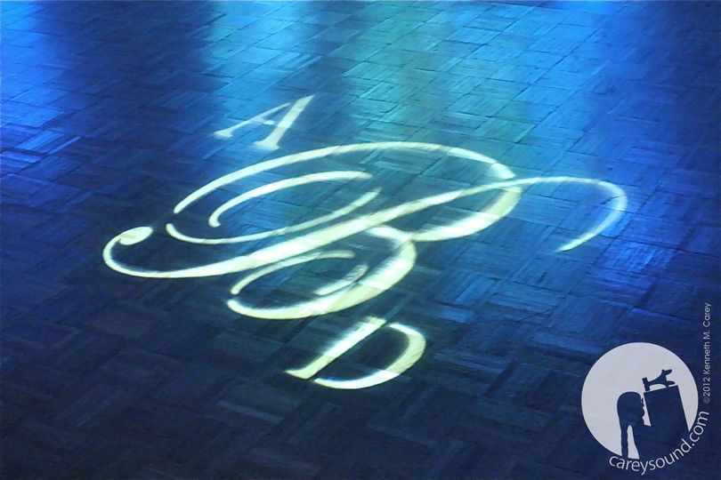 So perfect!  Imagine dancing around your new monogram.    Project the imagine on the dance floor,...