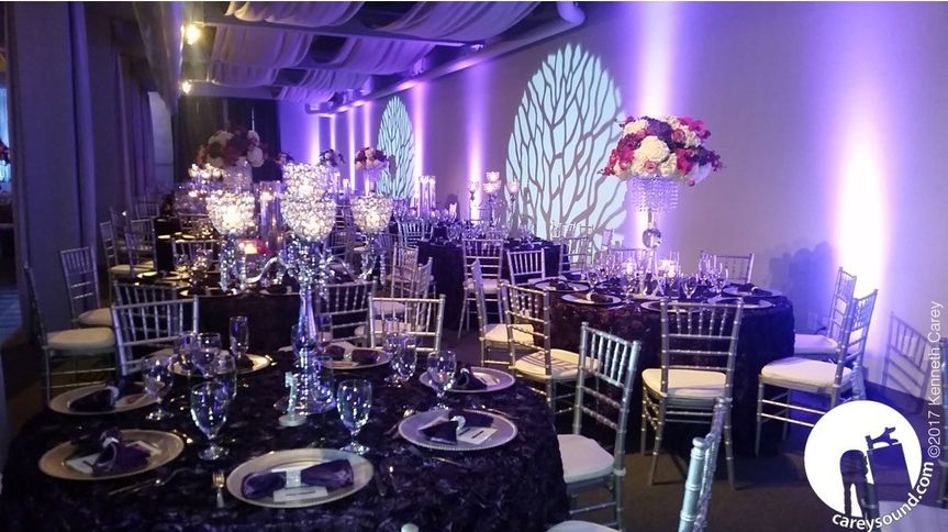 Jaw-dropping beauty at this sparkling affair. The gobos really break up the lighting and enhance the...