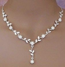 w flower power bridal jewelry necklace set 9