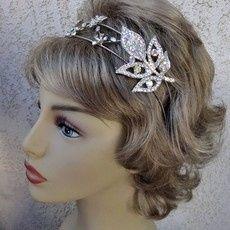 w leafy bridal headband