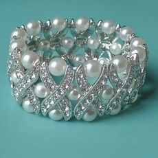 Tmx 1418150307773 W Cross My Heart Pearl Rhinestone Bracelet One Rem Sun City wedding jewelry