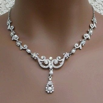 Tmx 1418151784713 W Annabelle White Faux Pearl Vintage Styled Weddin Sun City wedding jewelry
