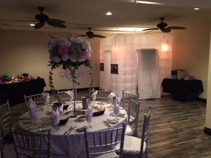 Wedding reception and the photo booth