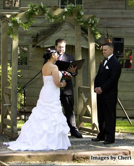 officiant with josh crystal