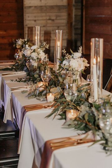 Head table garland candles