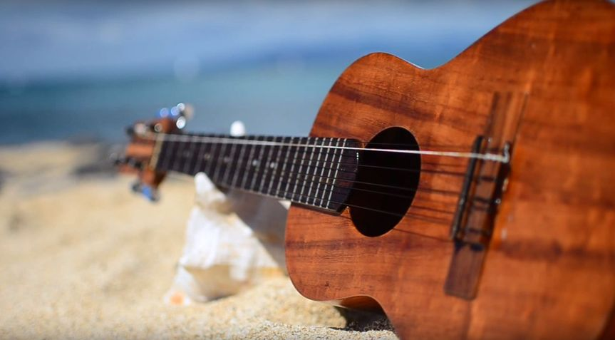 On a white sandy beach in Hawaii