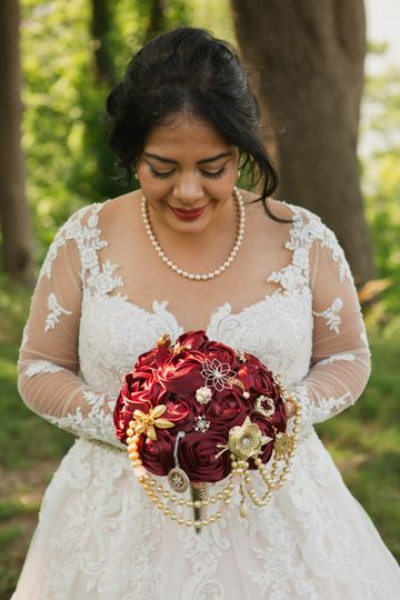 Handmade bouquet, bride