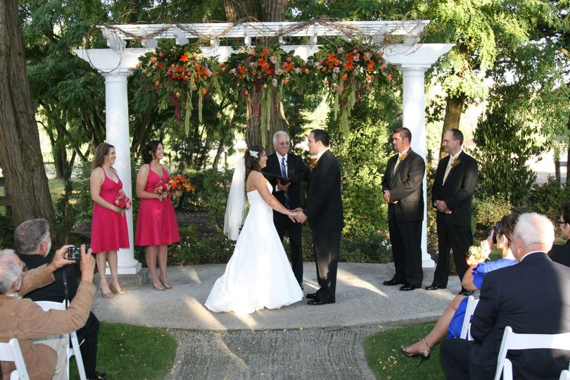 Ceremony proper at the garden
