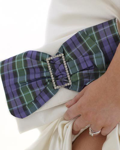 Stunning Diamante Tartan Clutch Bag custom made for you in your chosen tartan