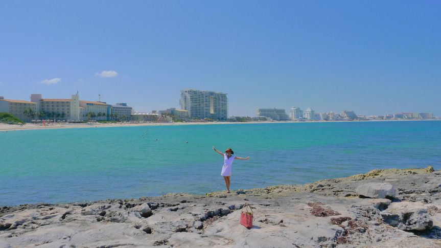 We took the bride to photoshoot in Cancun for a few beautiful pictures. We can take you any places...
