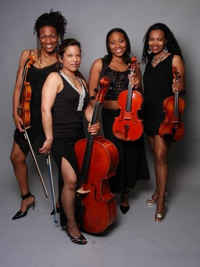 One of the group that performs with the Aida String network.