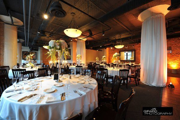Murdoch room with draping on the columns. Beautiful for your wedding!