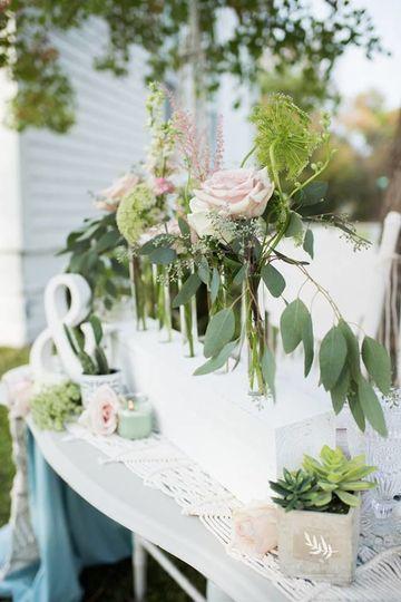 Sample plant decorations