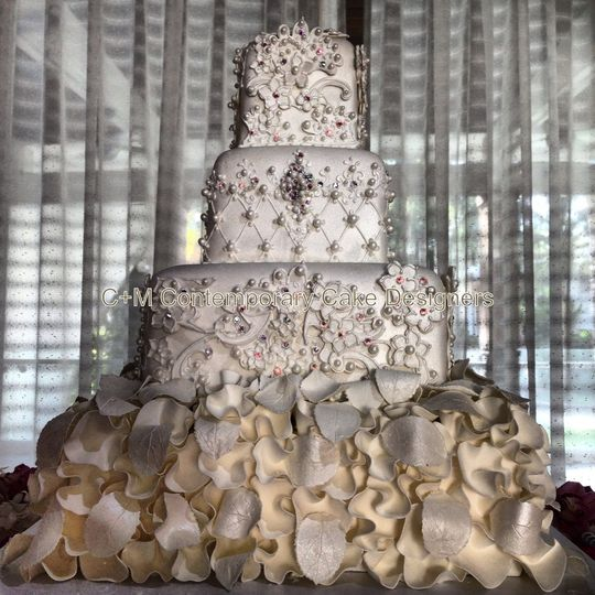 Beautiful Classic Formal White Wedding Cake
