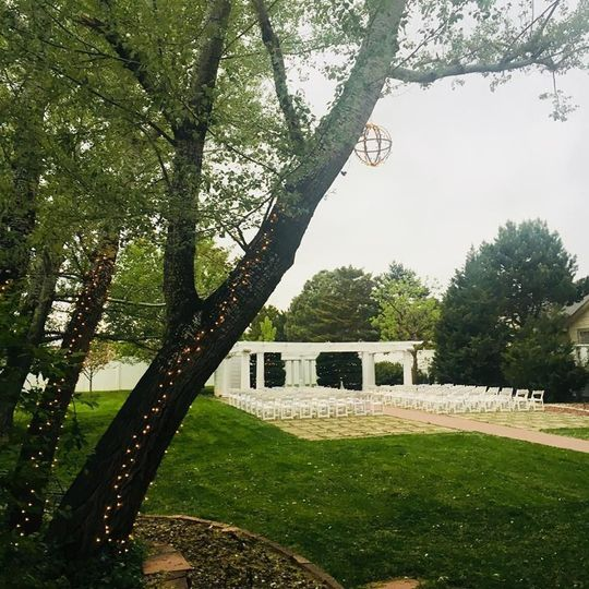 Wedding venue outdoors