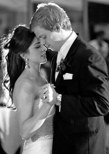 The couple's sweet dance