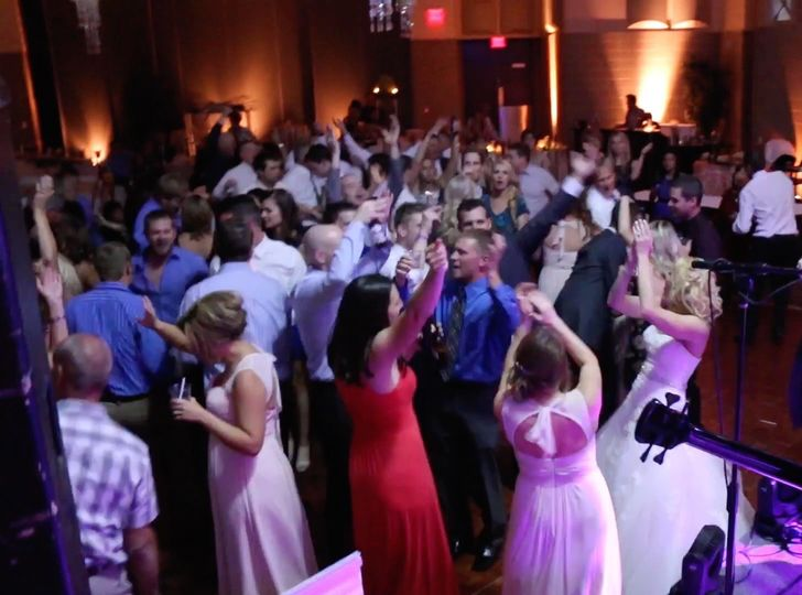 The guests dancing