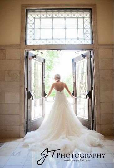 Bride by the door