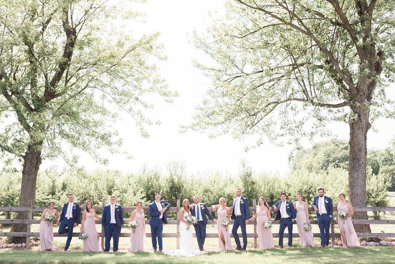 Summer orchard wedding.