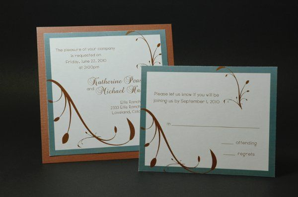 Tmx 1282932025342 FoxridgeMintMelodyInvite Johnstown wedding invitation