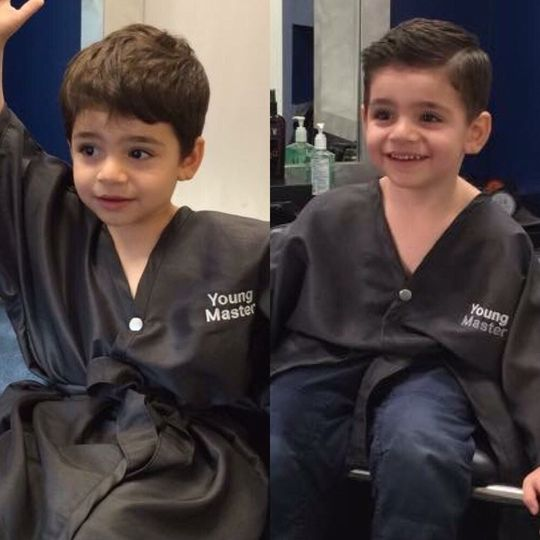 Before and after hair cut