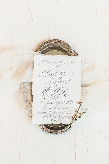 Wedding invitation - Prospect House