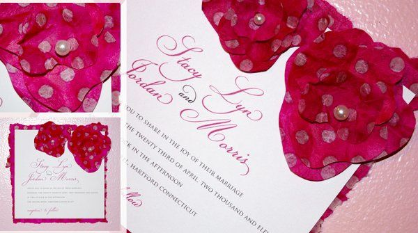 Tmx 1325611610582 Flowerinvite2 New Britain wedding invitation