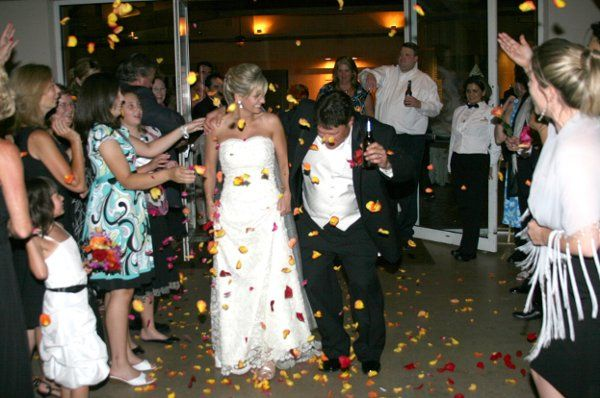 Happy Couple leaving the reception