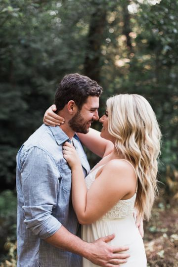 This engagement session was out in the middle of the woods at a cabin this groom grew up staying at....