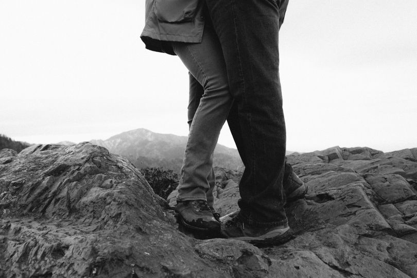 This couple hiked up the Appalachian Mountains for their engagement session. They were in their...