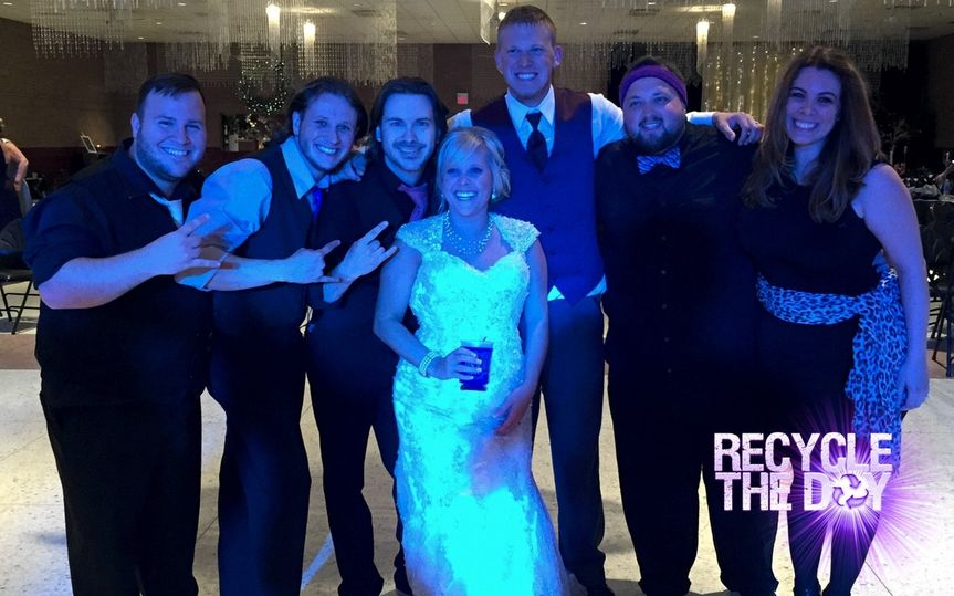 Band with the newlyweds