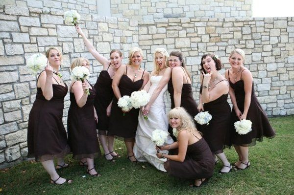 Not only was the bride Happy with our work, the Bridal party was excited with the Hair and makeup...