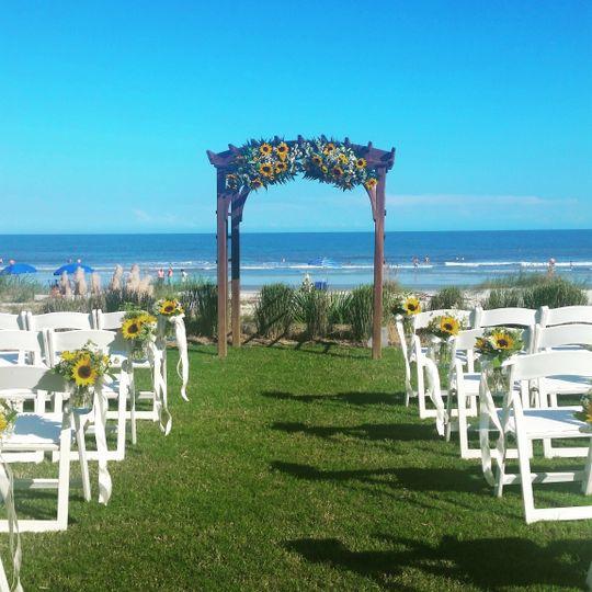 Long wedding aisle
