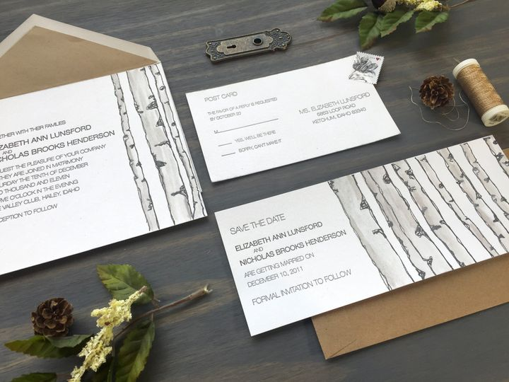 Tmx 1449731065285 Birchtrees2 Longmont wedding invitation