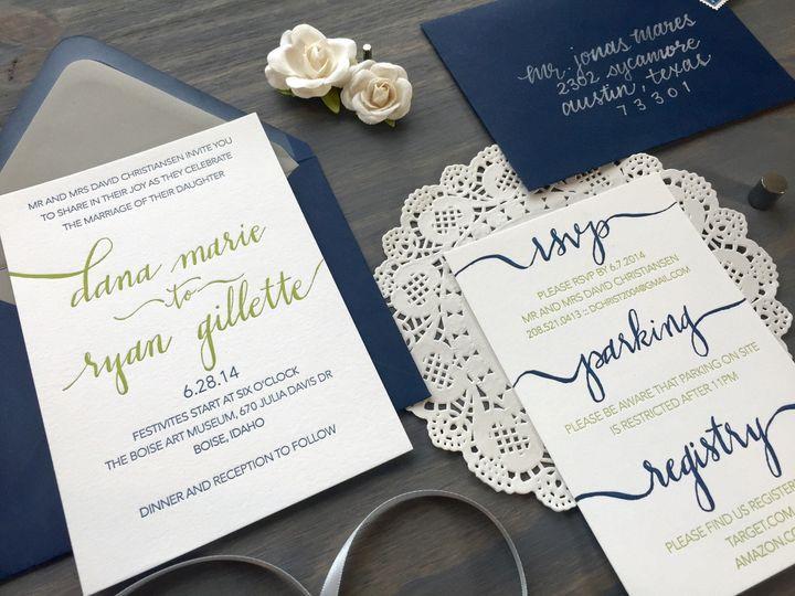 Tmx 1449731089467 Calligraphy4 Longmont wedding invitation
