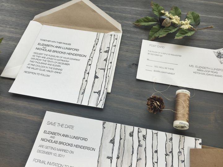 Tmx 1453766218439 Birch2 Longmont wedding invitation