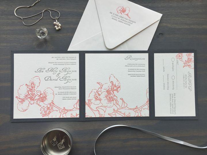 Tmx 1453766299589 Irises Longmont wedding invitation