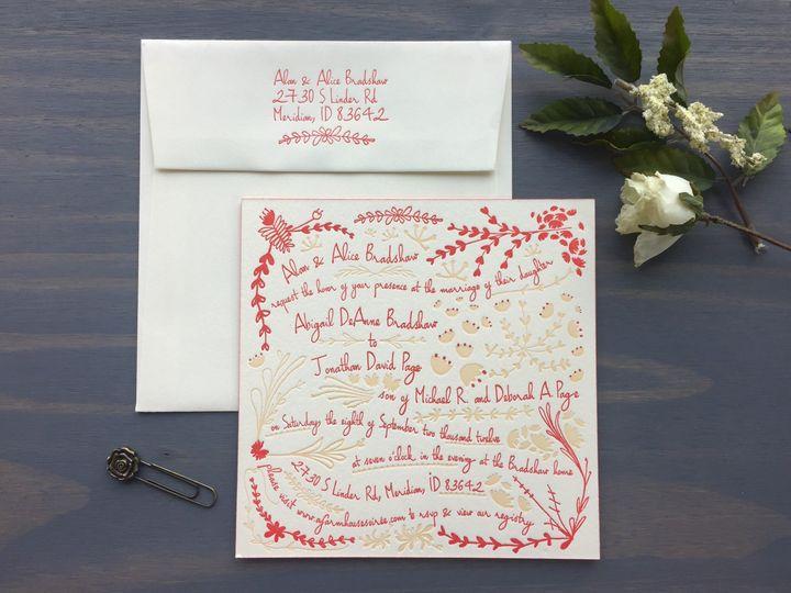 Tmx 1453766468607 Strawberry Fields Longmont wedding invitation