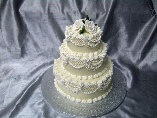 Tmx 1378340771014 Three Tier Rose Swagweddingcake Concord, MA wedding cake