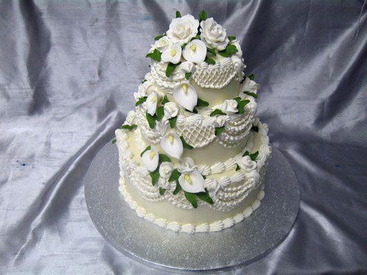 Tmx 1378340773133 Three Tier Cala Liliesweddingcake Concord, MA wedding cake