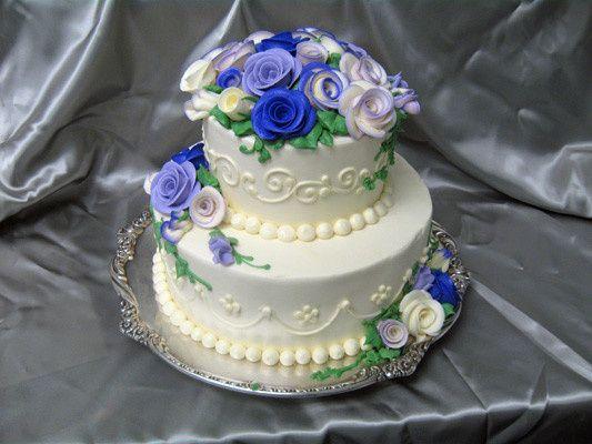 Tmx 1378340848640 Blue Roses Cake Concord, MA wedding cake
